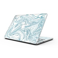 Marbleized Swirling Hard Mint - MacBook Pro with Retina Display Full-Coverage Skin Kit