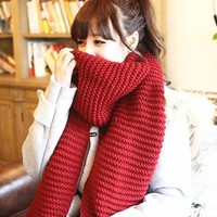 women winter scarves and wraps red cashmere knitted scarf for women italian large big scarf