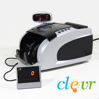 NEW Clevr Deluxe Bill Counter Fast Heavy Duty Money Count Counterfeit Detection
