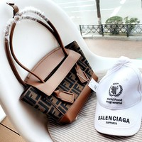 Fendi & Balenciaga Women's Wild Flap Bag Shoulder Bag + Sun Baseball Cap
