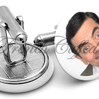 Mr Bean Rowan Atkinson Cufflinks