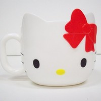 HELLO KITTY FACE MUG -CORN, not Plastic-