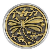 Ginger Snaps Brass Dragonfly Garden Snap