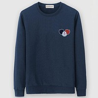 Moncler Casual Simple Women Men Long Sleeve Shirt Top Tee