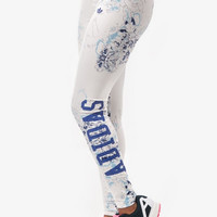 Adidas Originals Fashion Print Gym Yoga Running Leggings Sweatpants