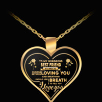 """Breath"" HEART PENDANT NECKLACE FOR BESTFRIENDS - BEST GIFTS FOR BestFRIENDS"