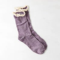 AEO Lace Trim Sock, Purple | American Eagle Outfitters