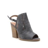 Sling Back Bootie, Steel