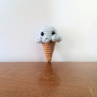 Octopus Ice Cream Cone - Crochet Amigurumi - Amigurumi Plush - Crocheted Octopus - Ice Cream Toy - Kawaii Plushy - Amigurumi Animals