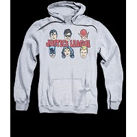 Mens The Justice League Lineup Pullover Hoodie