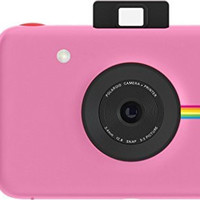 Polaroid Snap Instant Digital Camera (Pink) with ZINK Zero Ink Printing Technology Pink Base