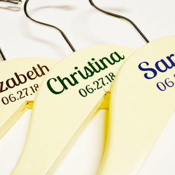 Personalized Wedding Hanger Decals Diy