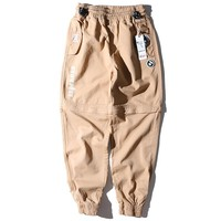 Aape Women Men Fashion Casual Shorts Pants Trousers Dual Use