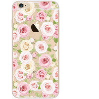 Rose Floral Case TPU Cover for iphone 7 7 Plus & iphone 6 6s Plus & iphone se 5s + Gift Box