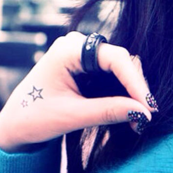 5pcs Set Star Tattoo - InknArt Temporary Tattoo - pack tattoo collection quote wrist neck ankle body sticker fake tattoo