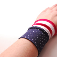 AMERICAN COLORS Stretch Wrist Cuff Jersey Wrist TATTOO Cover Fashion accessory Women Teens