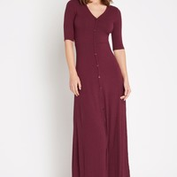 Weekday Button Down Maxi Dress