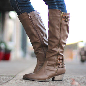The Geo Riding Boot {Nude}
