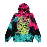 Evil  Three eyes Pikachu Hoodie Women Tie dye Cartoon Sweatshirt Girl Hip Hop Anime Hoodies Loose Hooded PulloverKawaii Pokemon go  AT_89_9