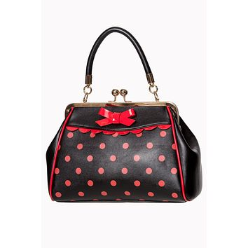Dancing Days Crazy Little Thing Vintage Style Polka Dot Top Handle Purse