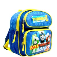 """ALL ABOARD"" Thomas the Train Engine 12""  Small Toddler Canvas School Backpack"
