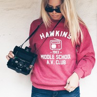Stranger Things Hawkins Middle School AV Club Sweatshirt