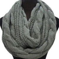 Keeping It Warm SALE: Warm and Cozy Big and Thick Grey Infinity Scarf