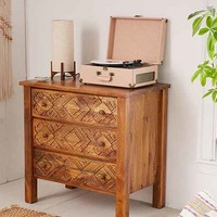 Amira Carved Wood Dresser