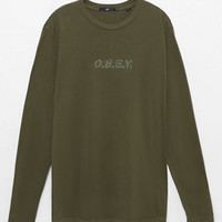 OBEY Type Long Sleeve Pigment T-Shirt at PacSun.com