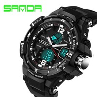 New Brand SANDA Fashion Watch Men G Style Waterproof Sports Military Watches Shock Luxury Analog Digital Sports Watches Men