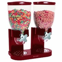 Zevro GAT203 Indispensable Dual-Canister Dry-Food Dispenser, Red: Amazon.com: Kitchen & Dining