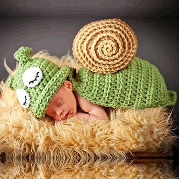 Baby Hat Caps Baby born Photography Props Snail Hand Crochet Knit Props Beanie Children's Hats with Caps Hats for Children