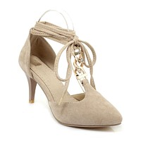Cross Straps Pointed Toe High Heels Sandals 6156