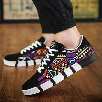 Shoes New Vulcanized Shoes Casual Canvas Sports Shoes Printing Students Running Shoes Tennis