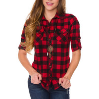 Keely Plaid Top
