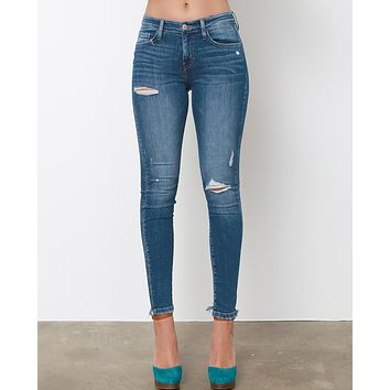 Make A Difference Skinny Jeans  - Blue