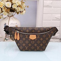 LV Louis Vuitton Classic Fashion Zipper Large Capacity Waist Bag Mobile Phone Bag Coin Purse