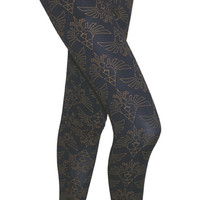 Legend of Zelda Blue Ladies Leggings with Zelda Print