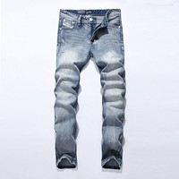 New Jeans Men Famous Blue Men Jeans Trousers Male Denim Straight Cut Fit Men Jeans Pants,whit Jeans