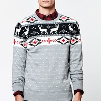 On The Byas Louis Knit Sweater - Mens Sweater - Gray
