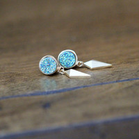 Stiletto Studs - Teal
