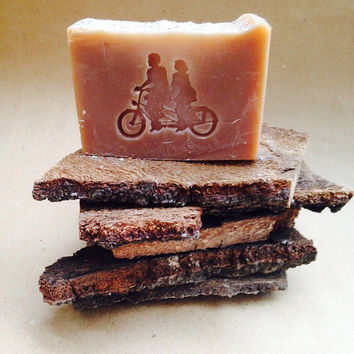 Best Bar Soap CHAI TEA/5 oz. Luxe Designer Soap/Genevieve & Theodore Logo/Soapie Shoppe Haywood Mall