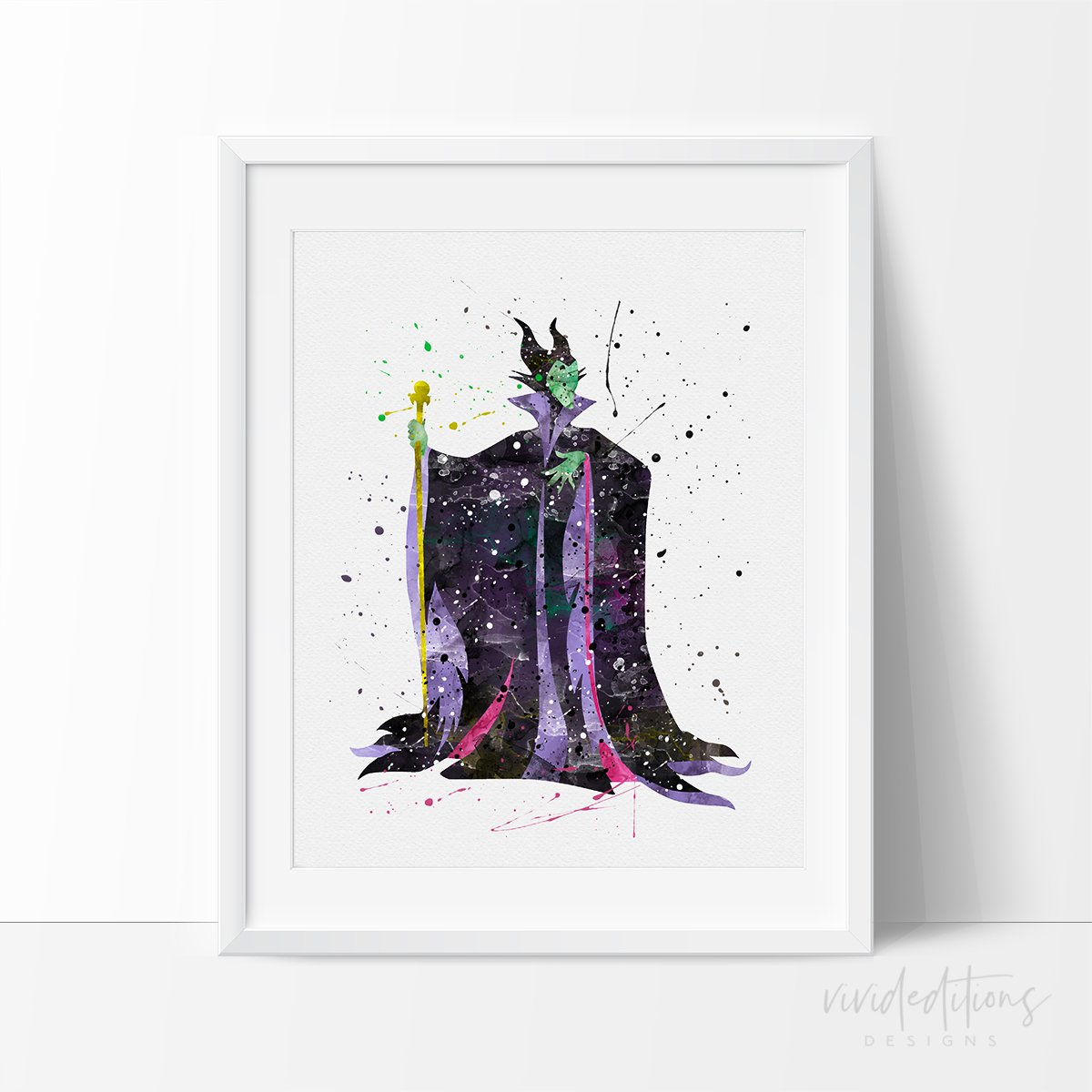 Image of Maleficent 3 Watercolor Art Print