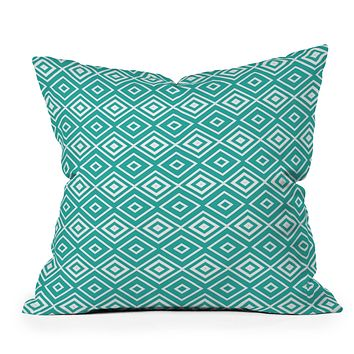 Lisa Argyropoulos Diamonds Are Forever Aquatic Throw Pillow