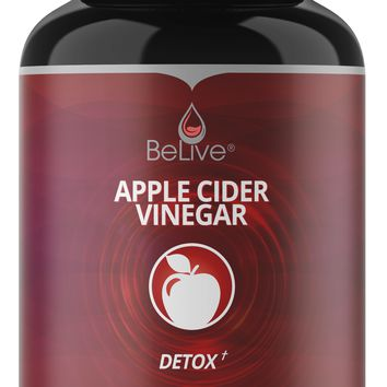 Apple Cider Vinegar Capsules - Extra Strength Pills for Weight Loss, Detox & Cleanse