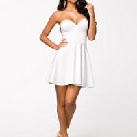 Bone Detail Skater Dress - Club L - White - Party Dresses - Clothing - Women - Nelly.com