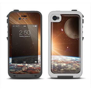 The Earth, Moon and Sun Space Scene Apple iPhone 4-4s LifeProof Fre Case Skin Set