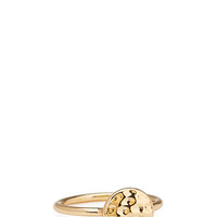 FOREVER 21 Dimpled Ring Gold