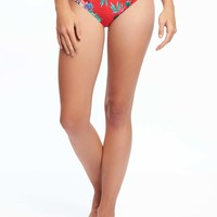 Ruched Bikini Bottoms for Women | Old Navy