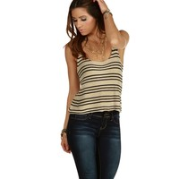 Sale-taupe All Stripes Sweater Tank